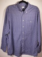 Lacoste Men's Blue Checked Long Sleeve Shirt Size 44 XL