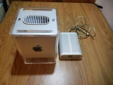 Apple Power Macintosh G4 Cube M7886 450mhz/256MB/20GB Working + Power Supply