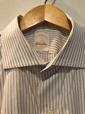 BROOKS BROTHERS GOLDEN FLEECE Shirt 17 35 White Egyptian Cotton Spread Collar