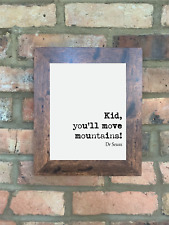 A4 Dr Seuss Quote Print Unframed Kid You'll Move Mountains Wall Minimalist