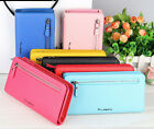 Fashion Women Genuine Leather Clutch Wallet Long Card Holder Case Purse Handbag