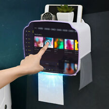 Portable Toilet Paper Holder Plastic Waterproof Paper Dispenser Home Storage Box