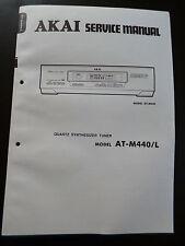 Original Service Manual  Akai Quartz Synthesizer Tuner AT-M440 / L