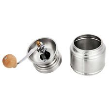 Manual Coffee Pepper Grinder Adjustable Ceramic Conical Burr Stainless Steel