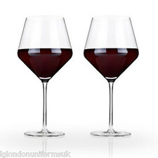 2x Red wine glasses Crystal BOHEMIA 620ml BOUQUET 11x24cm + FREE bottle stopper
