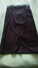George Calf Length Cotton Patternless Skirts for Women