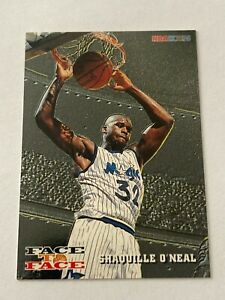 Shaquille O'Neal David Robinson 1993-94 Hoops Face To Face Insert Card #1 Magic