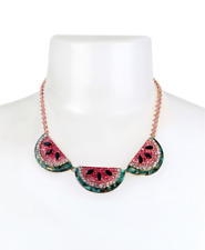 Betsey Johnson Watermelon Frontal Necklace in Gold-tone