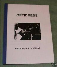 Jones & Shipman Grinders Optidress Attachment Manual