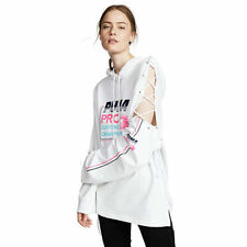 Puma Women's x Fenty Side Laced Hoodie Bright White Size Large~NWT