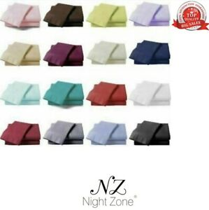 Flat Sheet 180 Tread Count Non Iron Percale Polycotton Hotel Quality Flat Sheet