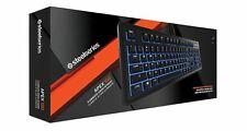 SteelSeries Apex 100 Gaming Keyboard, Blue Backlit, USB - UK Layout