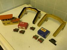 Hornby Dublo Job Lot of Footbridges, Buffers & Signal Box
