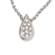 Echte Diamanten-Halsketten & -Anhänger aus Weißgold mit Tropfen für Damen