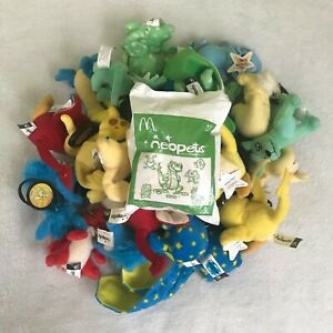 NEOPETS Plushies and PETPET tags McDonalds Happy Meal Toys LARGE ASSORTED LOT