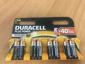 Duracell MN1500 AA Plus Power Batteries - New x 5 PACKS (40 Batteries in total)
