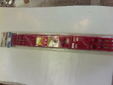 EURO RED TWIN 18 INCH WIPER BLADES (PAIR) BY RALLY #4669