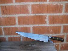 """Vintage 10"""" Blade *** SABATIER TRUMPET *** XL Carbon Chef Knife FRANCE"""