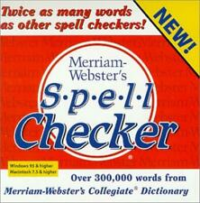 Merriam-Webster's Spell Checker PC MAC CD desktop words phrases medical tools