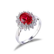 Neues AngebotEdelstein Weiß Gold 2.48 Karat Diamant Oval Schliff 14K Princess Diana Rosa Ring