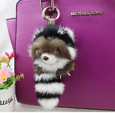 Easter Day Gift Copenhagen Mink fox fur Racoon bag car charm pendant keychain