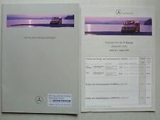 Prospekt mercedes V-Klasse v230/v230 TD, 7.1996, 36 páginas + lista de precios 8.1996
