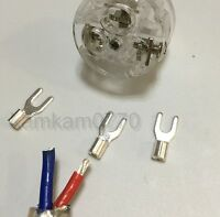6pcs Vanguard Copper Silver plated spade terminal for Electrical plug connector