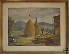 Oreste Zuccoli (Firenze, 1889 - 1980)Paesaggio toscano,Olio/tavola.