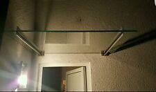 Edelstahl Vordach mit Milchglas VSG in 180cm x 100cm x 8,76mm
