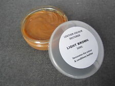 LIGHT BROWN Leather Colour Restorer JEEP Car Seats Upholstery Repair Balm Dye