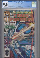 Transformers #4 CGC 9.6 1985 Marvel Comics 1st App Shockwave, Dinobots Cameo