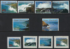 NEW ZEALAND :2002 Scenic Coastlines set + Self Adhesives SG2510-18