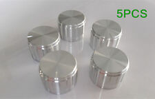 5PCS 23*17mm Silver Tone Volume Control Rotary Potentiometer application Knobs