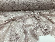 Mauve Vintage Corded French Lace Embroider On A Antique Mesh.Wedding/Bridal/yard