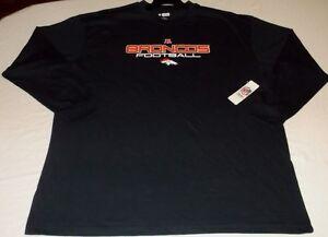 Denver Broncos T-Shirt 3XL Long Sleeve NFL Broncos Footbal Majestic Navy NFL