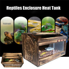 Large Reptiles Enclosure Cage Lizard Frog Pet House Snake Turtle Heat Warm Tank
