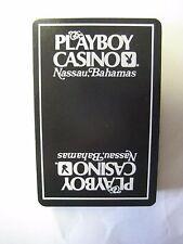 PLAYBOY CLUB CASINO NASSAU BAHAMAS SOUVENIR PLAYING CARDS 52