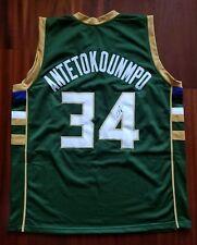 498be9eb9 Giannis Antetokounmpo Autographed Signed Jersey Milwaukee Bucks JSA