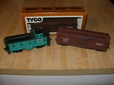 Vintage HO Scale Tyco MKT Stock Car & Bachmann Penn Central Caboose (Lot of 3)