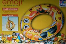 XL Schwimmreifen Schwimmring Badeinsel Luftmatraze emoji Smily neu