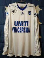 SIZE XL SC Bastia Away Football Long Sleeve Shirt Jersey Uhlsport