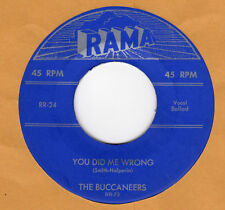 DOO-WOP REPRO: BUCCANEERS-You Did Me Wrong/Mission Of St Augustine RAMA