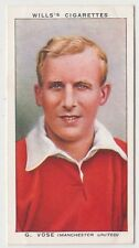 Manchester United Football soccer G Vose on Wills Woodbine & Star cigarette card