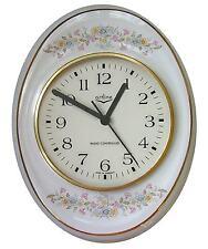 14911910 Artline Küchenuhr ovale stehend Blütenkranz hell Goldrand FehlerFunkuhr