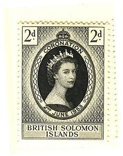BRITISH SOLOMON ISLANDS 1953 CORONATION BLOCK OF 4 MNH
