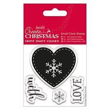 Nordic Corazón-Mini transparente conjunto de sello-crear Navidad Colección-DOCRAFTS
