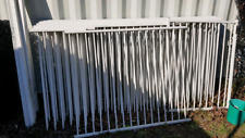 White flat top pool fence, 1200mm high 27m long, pool conpliant