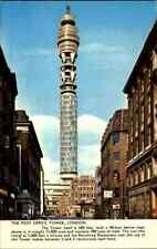 England Postcard ~1970 LONDON The Post Office Tower Postturm Strassen Ansicht