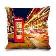 LONDRA CABINA TELEFONICA in Seta Sintetica 45cm x 45cm Divano Cuscino-INGHILTERRA uk