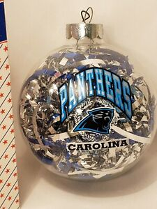 Carolina Panthers Evergreen LED Boxed Ornament Set of 6